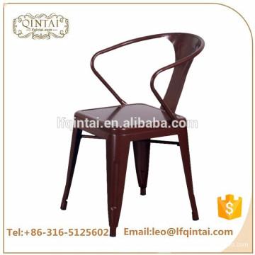 Silla industrial de cobre barata al por mayor de la barra con la silla colorida de la cafetería del ocio del nuevo diseño de los brazos