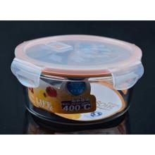 Bacia de açúcar de vidro do produto comestível com tampa
