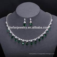 ZheFan en gros robe de mariée bijoux ensembles dubai personnalisé bijoux ensemble