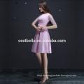 4 Farben halbes Hülsenabendessenkleid mehrfarbiges Abendkleid-Parteikleid