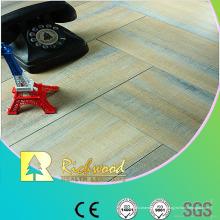 Plancher laminé par chêne ciré par chêne de relief de ménage de 12mm