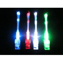 luzes conduzidas do dedo da fibra óptica do laser