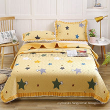 Hotel Product Yellow Bedspread Set Queen Size Lightweight for All Season
