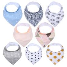 Absorvente bebê babadores100% algodão unque design bibs bandana