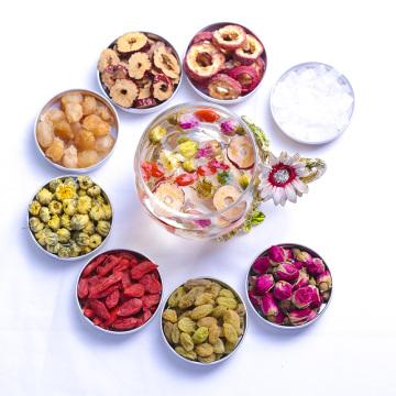 Salud natural Té de flores de té de ocho tesoros de rosas