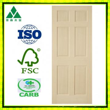 Poplar 6 Panel Veneer Wood Door