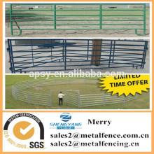 niedrigster Preis Metall Ranch Corral Zaun Panel / galvainzed Viehhaltung Bauernhof Zaun mit Tor für Pferd Schafe Kuh