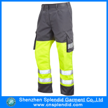 Wholesale Mens 100% Cotton High Visibility Navy Blue Cargo Pants