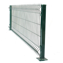High Quality 3D Curved PVC Coated Triangle Bending Welded Wire Mesh Fence For Garden