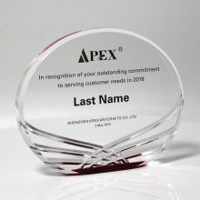 Clear Acrylic Awards with Wave pattern