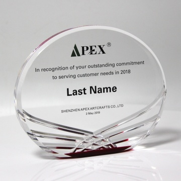 Clear Acrylic Awards met Wave-patroon