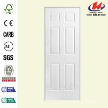 28 polegadas x 80 pol. Solidoor Texturizado Painel sólido de 6 painéis primário Composto Single Prehung Porta interior