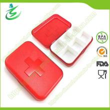 En gros Swiss 6 Cases Grid Pill Box; Étui à pilules en plastique
