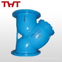 diferentes tipos de agua industrial con reborde tipo Y filtro cilíndrico