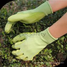 SRSAFETY 13G Трикотажные нейлоновые перчатки 4131, PU рабочие перчатки