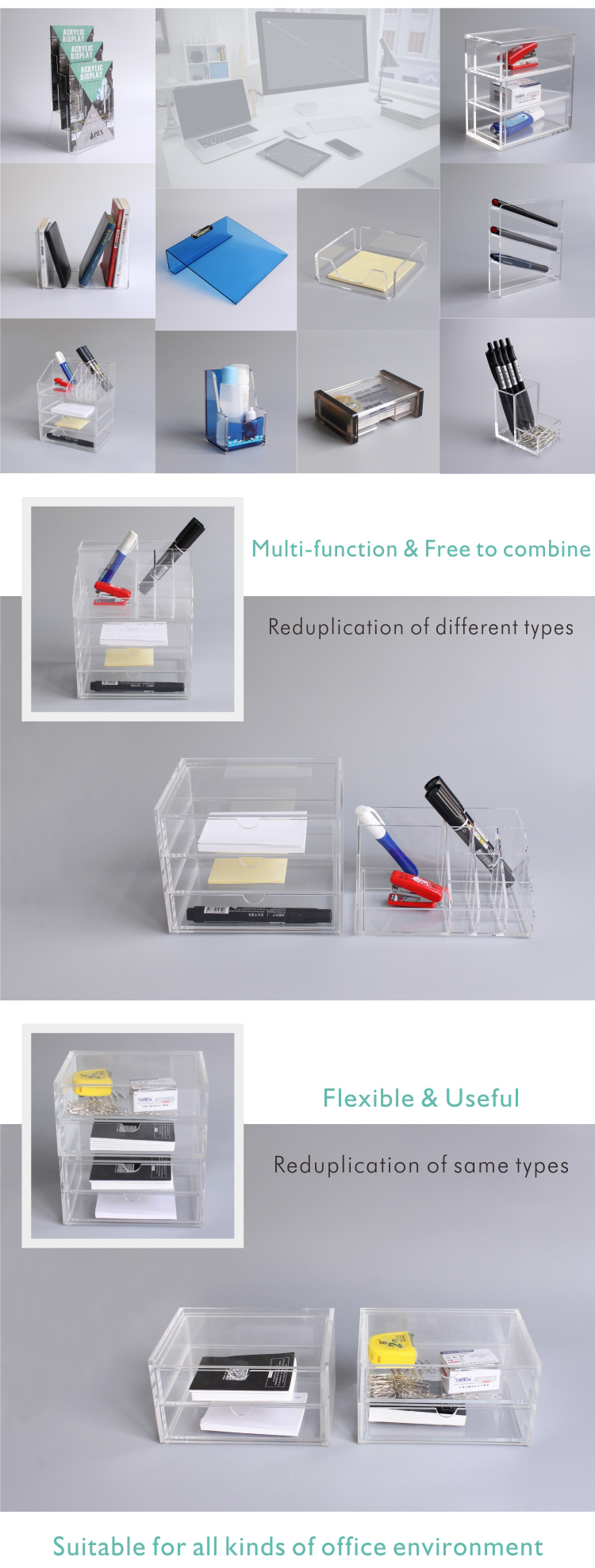 High Quality Acrylic Pen Holder Display Stand