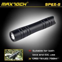 Maxtoch SP6X-5 CREE XML T6 aluminio Mini antorcha pequeña linterna
