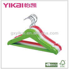 2013 new style children wooden clothes hanger with round bar and notches