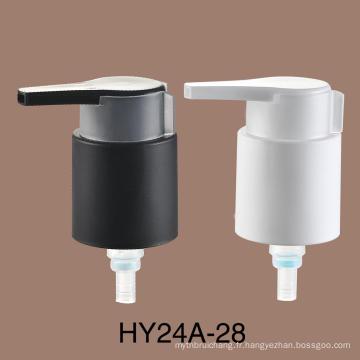 Pompe de crème en plastique de vente chaude de crème de traitement de pompe de lotion en métal de 24mm