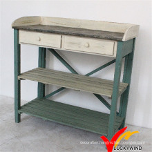 Shabby Farm Antique Wooden Potting Bench and Table
