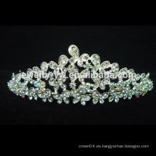 Joyería cristalina nupcial de la tiara de la boda de la nueva manera, coronas y tiaras del desfile