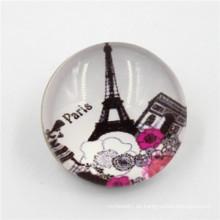 La resina decorativa al por mayor cubrió el botón de resorte de la prensa