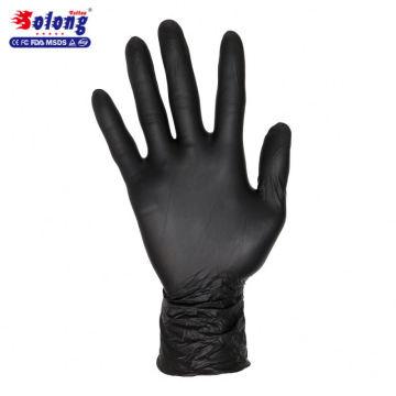 So long tatouage S / M / L / 100 pcs autorisé nitrile noir stérile gants de tatouage jetables