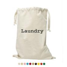 Custom Lighweight Extra Large Heavy Duty Drawstring Wash Laundry Bag Storage Canvas Laundry Bag