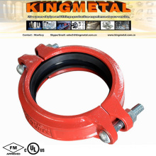 """FM UL Approved 2"""" Victaulic Grooved Fitting Flexible Grooved Coupling"""