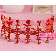 Linda liga tiara de casamento de cristal de moda