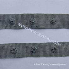 Bouton Snap en plastique sur bande, ruban adhésif en plastique