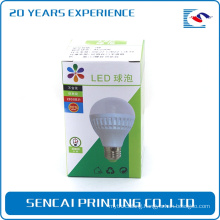 Pretty grey board paper bulb foldable electronic product box with gloss lamination