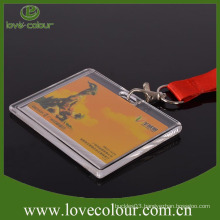 Free Sample hard plastic id card holder lanyard for worker