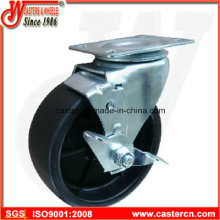 5X2 Polypropylen-Schwenkrollen mit seitlicher Laufradbremse