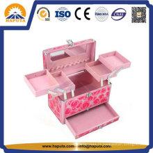 Caixa de beleza cosmética de alumínio para armazenamento de maquiagem