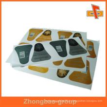 Cantão fornecedor de impressão por atacado e embalagem brilhante ou fosco acabamento auto adesiva etiqueta de móveis de móveis