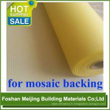 directement usine mosaïque matières premières en fiber de verre papier pour produit de qualité premium 1mx1m mosaïque