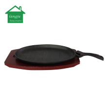 Cast Iron Steak Platter with Removable Gripper