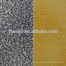 Metallic hammered texture powder paint spray coating