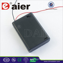 Daier aa battery holder 4.5v aa battery holder with cover 3 aa battery holder