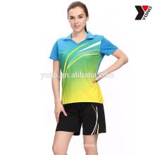 Мужская спортивная Джерси быстро сухой теннис бадминтон одежда Джерси волейбол Джерси