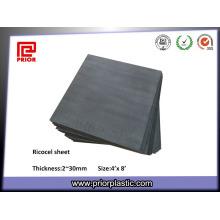 Feuille noire de Ricocel avec la taille 1220X2440mm