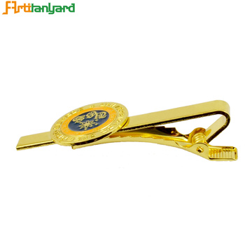 Personalized Gold Plated Soft Enamel Tie Clip
