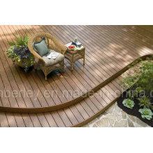 Decking composé en plastique en bois avec le plancher bon marché extérieur / d'intérieur de haute qualité de WPC
