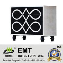 Fashionable Unique Painting Design Hotel Decorative Cabinet (EMT-DC03)