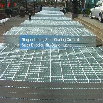 Acero galvanizado plataforma de rejilla de piso calzada