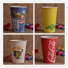 Copos de papel descartáveis para bebidas frias