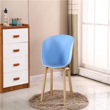 Silla de cáscara de plástico de muebles de sala