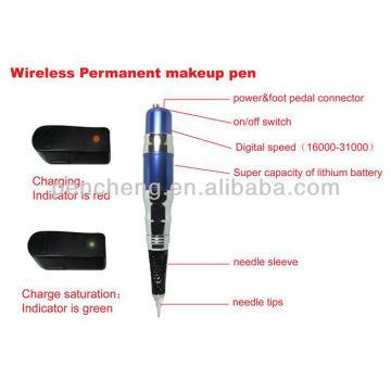 wireless Permanent makeup blue-pen & cheap makeup tattoo machine set