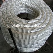 3/4''-14'' Inch Sprial Helix Corrugated Clear PVC Suction Hose / Reinforced PVC Vacuum Delivery Hose For Water Pump
